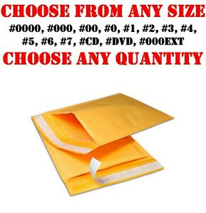Kraft Bubble Mailers Shipping Mailing Bags Padded Envelopes Self seal Any Sizes