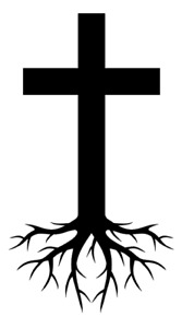 Jesus Cross Roots Vinyl Decal Bumper Sticker Christian Car Windows Outdoors