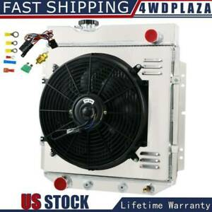 3 Row Radiator Shroud Fan Thermostat For Ford Mustang Falcon V8 1964 1966 65 66