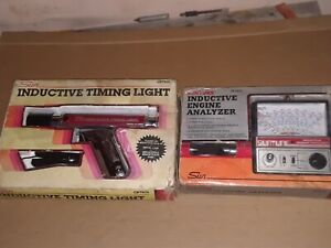 Sun Inductive Timing Light And Suntune Engine Analyzer In Box Like New Vintage
