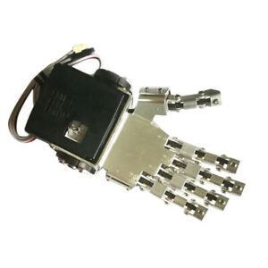 Robot Mechanical Claw Clamper Gripper Left Arm Hand Five Fingers With Servo