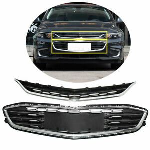 Honeycomb Mesh Grill Front Bumper Upper lower Grille For Chevy Malibu 2016 2018
