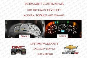2003 To 2009 Gmc Topkick Chevrolet Kodiak Instrument Cluster Repair Service