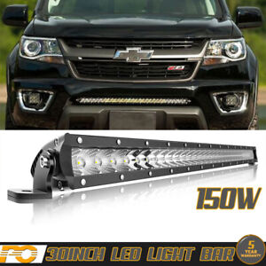 30inch 150w Led Light Bar Mounting Bracket For Chevy Silverado Pickup Offroad