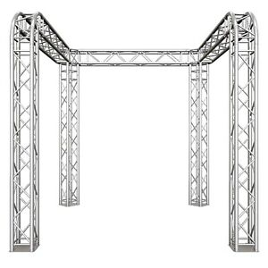 Global Truss Tb 10x10 U Shaped 10 Trade Show Booth With Round Corners F34 002