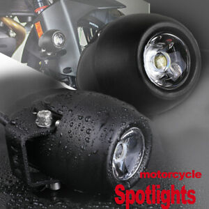 7d Led Offroad Driving Spot Lights Round Headlight Work Lamp Motorcycle Atv X2