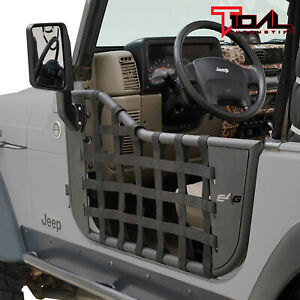 Tidal Matrix Tube Door Left Right With Side Mirror Pair Fit For 97 06 Jeep Tj