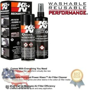 K N Air Filter Cleaning Cleaner Recharger Kit With Oil Spray Can 99 5000 New
