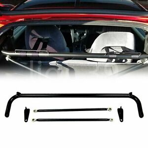 48 49 Universal Racing Safety Seat Belt Chassis Roll Harness Bar Rod Black