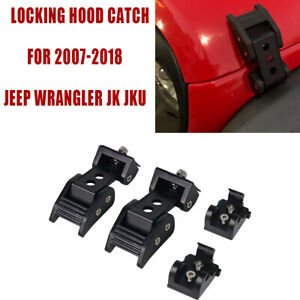 Hood Latch Locking Catch Buckle Metal For Jeep Wrangler Jk Unlimited 07 18