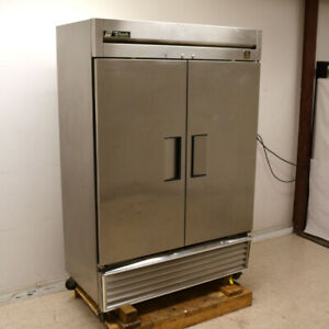 True Ts 49 Reach in Two section Two door 4 shelf Stainless Steel Refrigerator