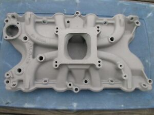 Edelbrock Ford 429 Torker 460 Single Plane 2795 Old School Intake Manifold 4bbl