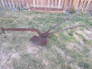 Antique Horse Drawn Walk Behind Farm Single Plow Equipment Tool Primitive