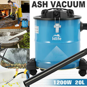 Ash Vacuum Cleaners W 3 Brush Heads filter For Fireplaces car bbq Dry Dust