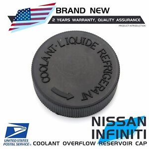 For Nissan Infiniti 21712 79900 New Coolant Overflow Reservoir Cap Tank Black