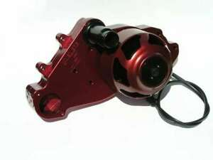 Meziere Red Aluminum Street Style Electric Water Pump Kit Gm Ls P n Wp319r