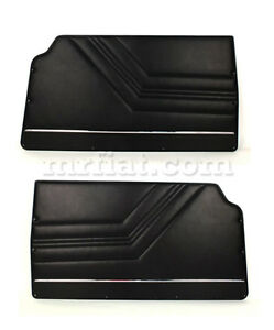 Alfa Romeo Gtv 2000 Gt Junior Black Front Door Panel Set New