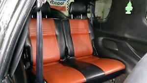 Rear Seat Assembly Black Red Leather Fits 99 01 Isuzu Vehicross