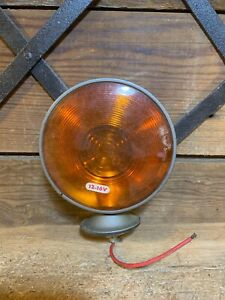 Vintage Tractor Nos Yankee Thin A Stop Caution Tail Light Oliver Massey White Jd