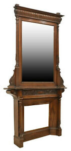 Handsome French Louis Philippe Fireplace Mantle Mirror Antique