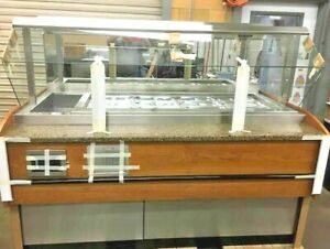 74 Pan refrigerated Salad Bar Mechanically Cooled looks New