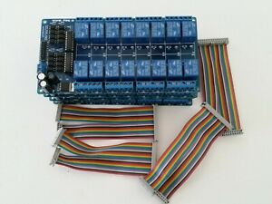 Lot Of Four Sainsmart 16 channel Relay Modules Breadboard Jumper Wires