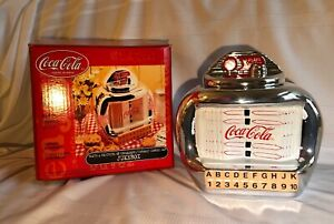 Coca Cola Brand Cookie Jar Silver Juke Box By Gibson Vintage  (MB3)