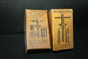 Vintage Abrasive Type Valve Reseating Tool Set W Original Box Lot Of 2