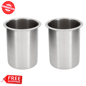 2 pack Vollrath 1 25 Qt Stainless Steel Bain Marie Pot Nsf Listed