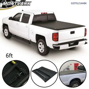 For 82 13 Ford Ranger 94 11 Mazda Pickup 6ft Bed Lock Tri Fold Tonneau Cover