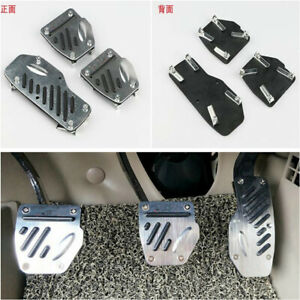 3pcs Car Foot Pedals Pad Cover Manual Transmission For Brake Clutch Accelerator