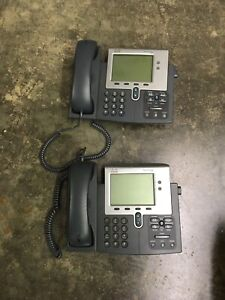 Lot Of 2 Cisco Ip Business Phones 7941 Series Cp 7941g v02