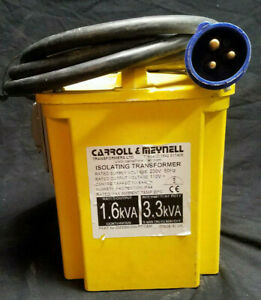 Carroll meynell Portable Isolating Step Down Transformer 230v 110v Ac 1 6 3 3kva