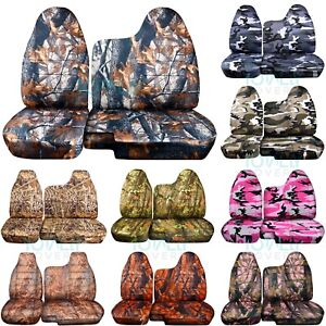 04 12 Chevy Colorado gmc Canyon 60 40 Camouflage Truck Seat Covers No Armrest