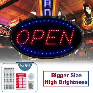 T sign Large Led Open Sign 23x14 Inches Lighted Neon Open Sign Include Free Busi