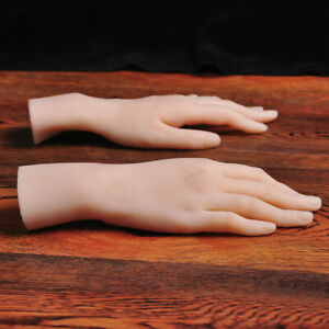 1pcs Silicone Lifelike Female Hand Finger Mannequin Display Jewelry Model Props