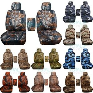 2001 2020 Ford F 150 F 250 F 350 Camo Truck Bucket Seat Covers W Center Armrest