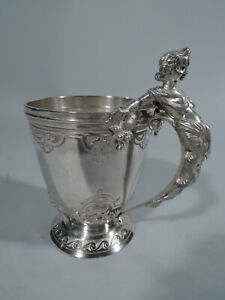 Gorham Mug 503 Antique Classical Christening Baby Cup American Coin Silver