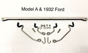 1928 1931 Model A 1932 Ford Universal Street Rod Stainless Steel Hood Prop Kit