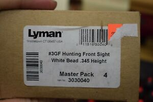 Lyman #3GF Hunting Front Sight .345 3 8quot; Dovetail White Bead #3030040 $17.99