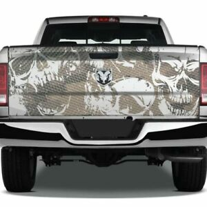 Skulls Grunge Camouflage Tailgate Pickup Decal Truck Vinyl Camo Wrap Graphic Usa