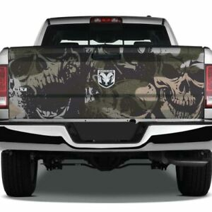 Camouflage Grunge Skulls Pickup Decal Tailgate Truck Wrap Camo Vinyl Usa Graphic