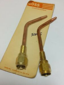 Lot Of 2 Goss Torch Tip 3000 5 With 3014 5 Fitting