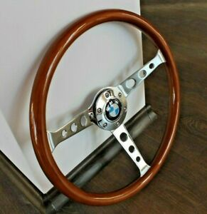 Steering Wheel Bmw Vintage Wood Chrome E21 E23 E24 E28 E30 E32 E34 E36 1974 1998