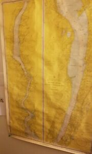 Vintage Nautical Chart Hudson River Ny To Wappinger Creek Year 1971