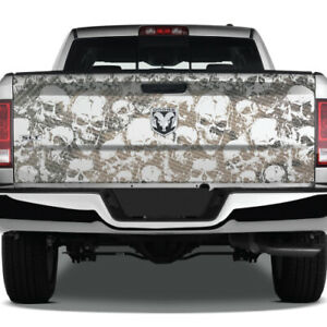 Camo Camouflage Usa Skulls Vinyl Wrap Tailgate Truck Decal Graphic Pickup