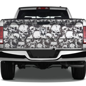 Camo Camouflage Pickup Grunge Graphic Skull Vinyl Wrap Usa Tailgate Truck Decal