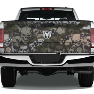Camo Camouflage Pickup Grunge Usa Graphic Skull Vinyl Wrap Tailgate Truck Decal