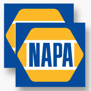 2x Napa Auto Parts Sticker Vinyl Decal Car Parts Nascar Truck Window Racing Drag
