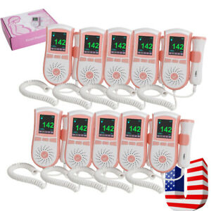 10 prenatal Fetal Doppler Heart Doppler Baby Heart Monitor 3mhz Probe Home Care